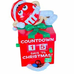 M&M'S Collectible Red Countdown Christmas Calendar